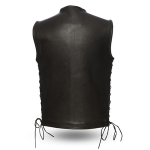Venom - Men's Leather Motorcycle Vest-FS