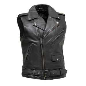Rockin - Men's Motorcycle Leather Vest