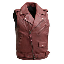 Load image into Gallery viewer, Roller - Men's Motorcycle Leather Vest
