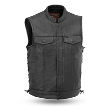 Load image into Gallery viewer, The Sniper - Men's Motorcycle Leather Vest