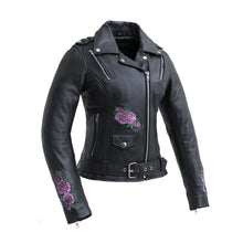 Load image into Gallery viewer, Bloom - Women's Motorcycle Leather Jacket