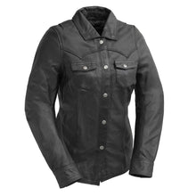 Load image into Gallery viewer, Onyx - Women's Leather Motorcycle Shirt
