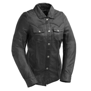 Onyx - Women's Leather Motorcycle Shirt