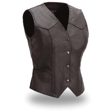 Load image into Gallery viewer, Sweet Sienna - Women's Leather Motorcycle Vest