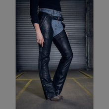 Load image into Gallery viewer, Wind Walker - Unisex Leather Chaps With Gator Skin Snapout Liner