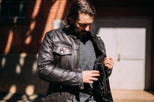 Load image into Gallery viewer, Vendetta - Men's Leather Motorcycle Jacket
