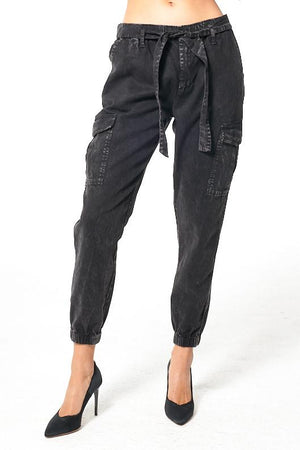 Dex Denim Jogger - Black Gold