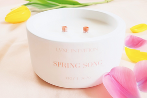 Spring Song - Luxury Vegan Coco-Apricot Wax Candle