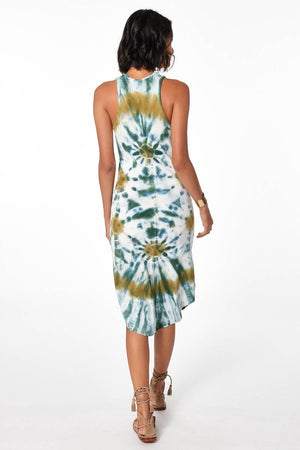 Robbie Midi Tank Dress - Winter Leaf