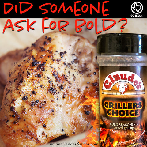 Claude's Grillers Choice Seasoning on Chicken