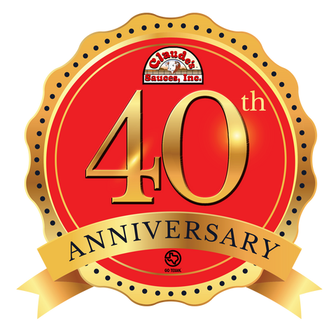 Claude's Sauces 40th Anniversary Badge