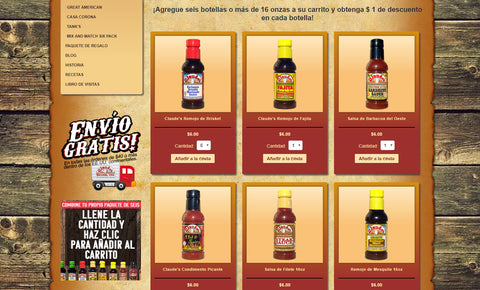 Claude's Sauces Mix and Match 6 Pack Page