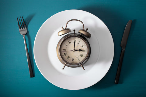 time on a plate at a dinner serving