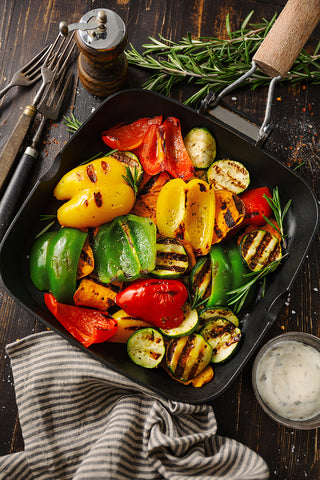 Grilled vegetables and peppers