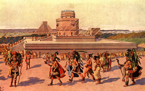 An artists impression of ancient Mexicans