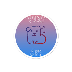 Dog FO sticker