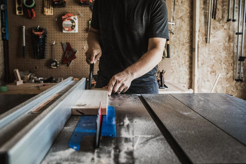 cutting-wood-on-workbench-how-to-become-a-locksmith