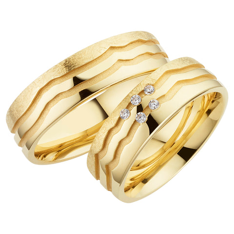 Trauringe Golden Love in Gelbgold 750/- Legierung
