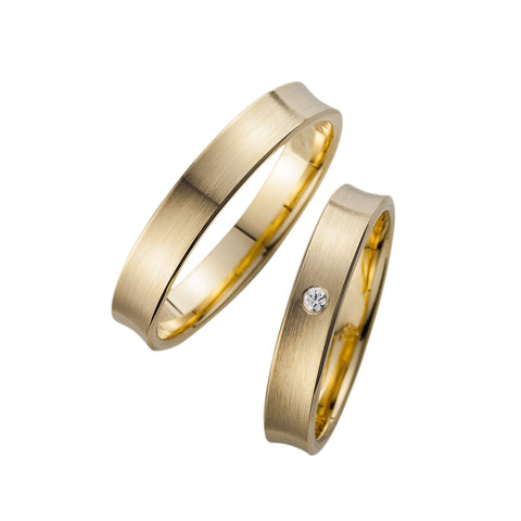 Trauringe Perfect Love in Gelbgold 333/- Legierung