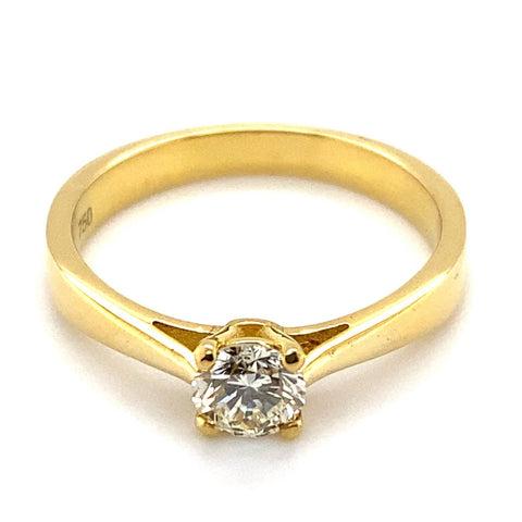 Ring Solitär 0,50 ct Brillant 750/- Gelbgold