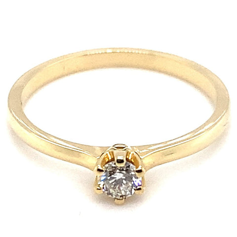 Ring 585/-Gelbgold  Solitär 0,17 ct Brillant