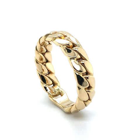 Ring 585/-Gelbgold Panzerkette Muster