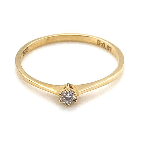 Ring 585/-Gelbgold Brillant 0,07 ct W-si