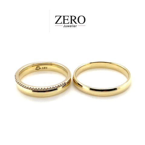 Trauringe mit Memoire Ring  585/-Gold