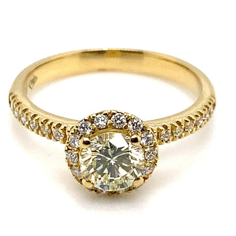 Ring 750/-Gelbgold Brillanten