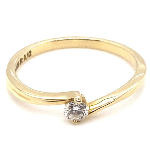 Ring 585/-Gelbgold Spannring Brillant