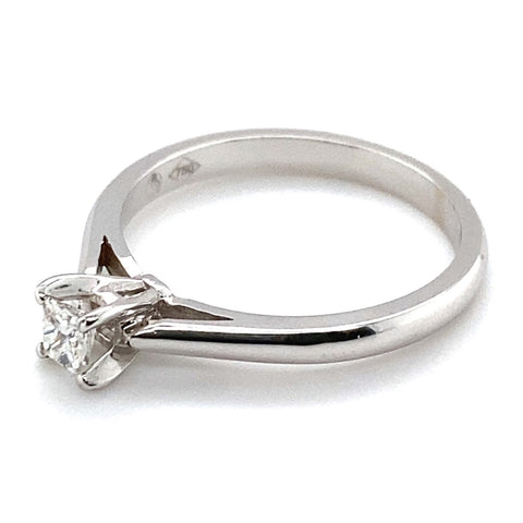 Ring Weißgold 750/- Diamant Soliär Princess Schliff