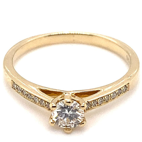 Ring 585/-Gelbgold Brillant
