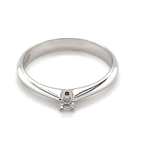Ring Weißgold 585/- Brillant 0,07 ct H-si