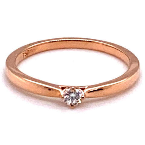 Ring 750/-Rotgold Brillant