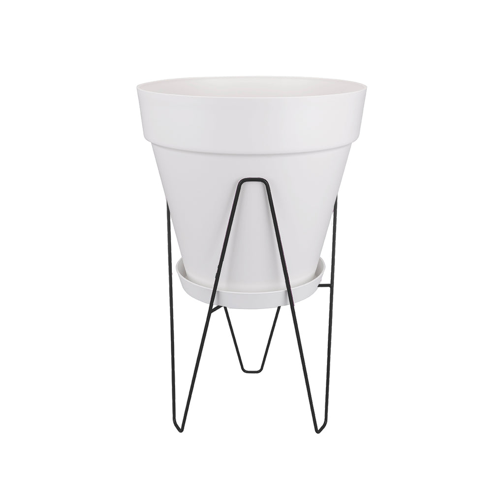 Loft Urban Round 30 in White with Frame, Living Black