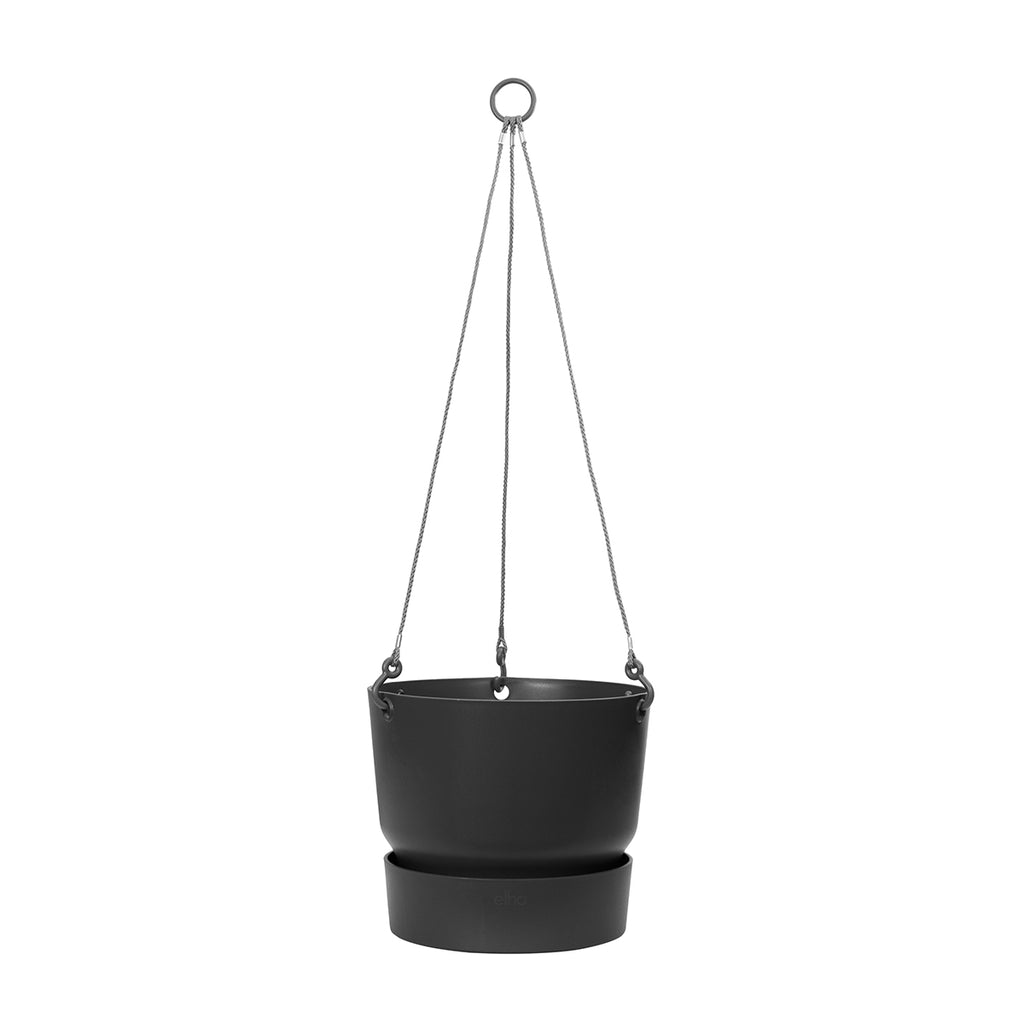 Greenville Hanging Basket 24cm in Living Black