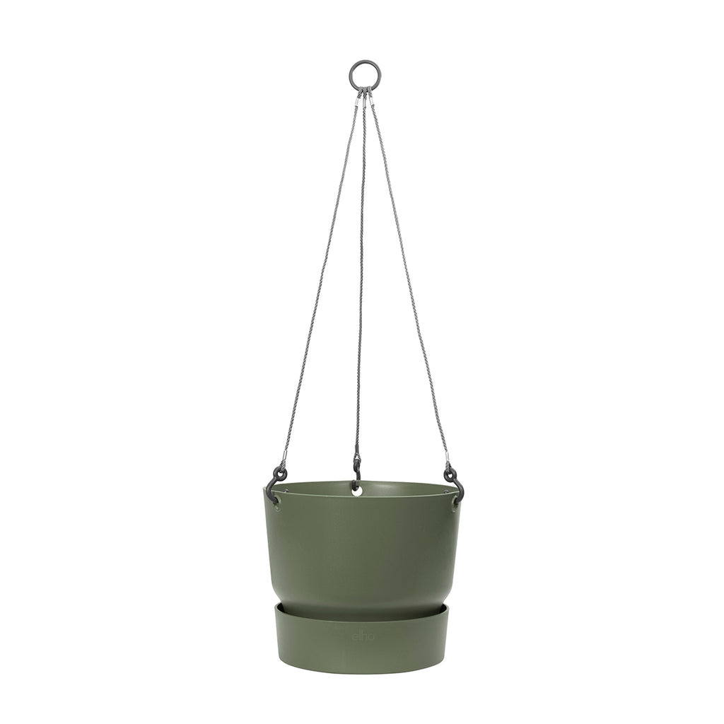 Greenville Hanging Basket 24cm in Leaf Green
