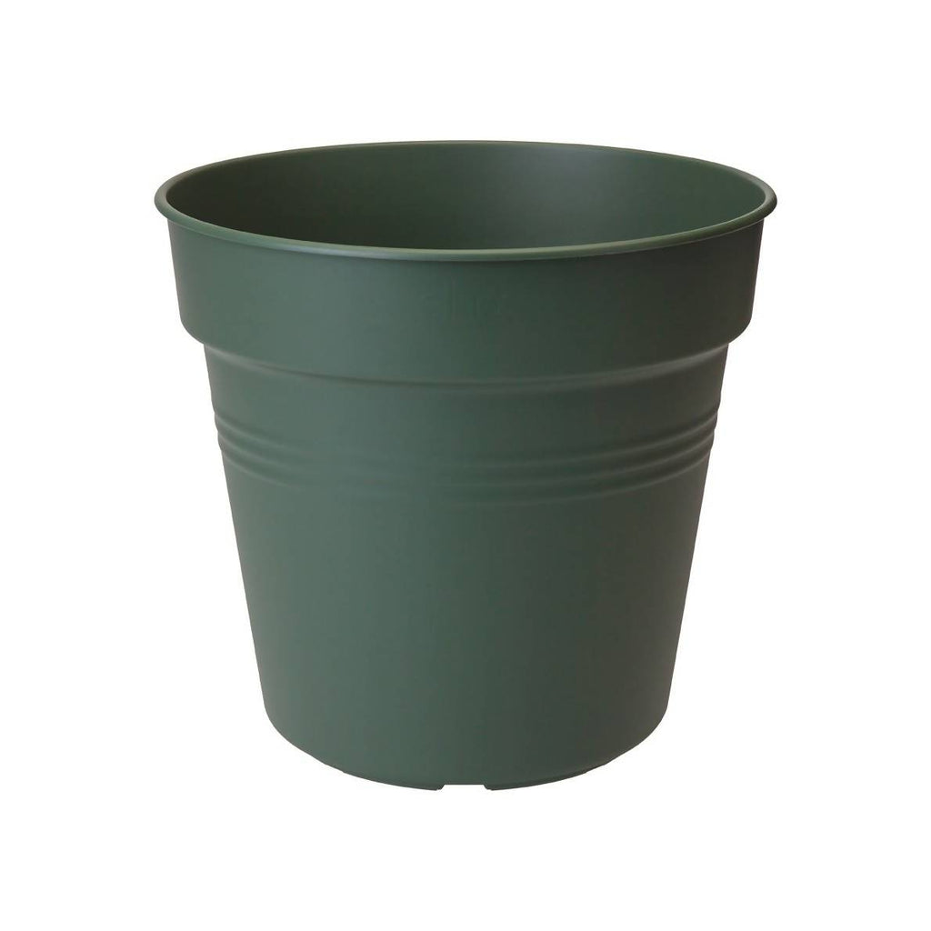 Green Basics Growpot 19cm in Leaf Green with 17cm Saucer