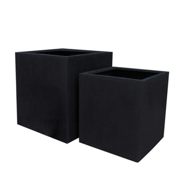 Fibreglass Planter Square 50cm in black