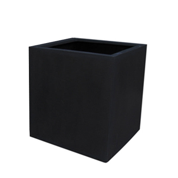 Fibreglass Planter Square 40cm in black