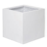 Fibreglass Planter Square 50cm in white