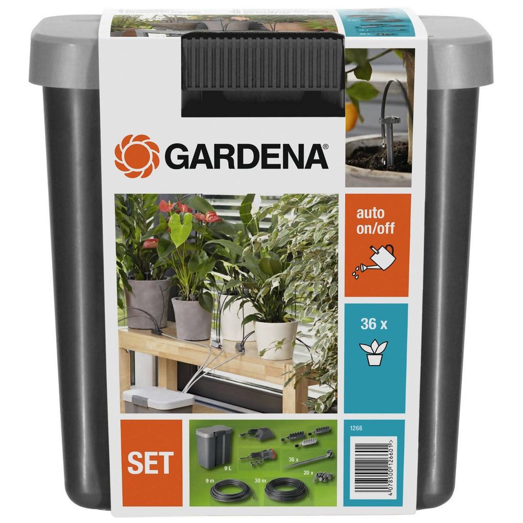 GARDENA City Gardening balcony Holiday Watering Set with Water Container