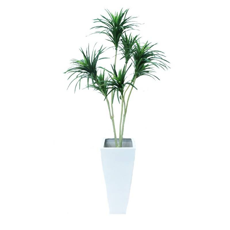 Artificial Yucca Plant with White Pot (1.8m)