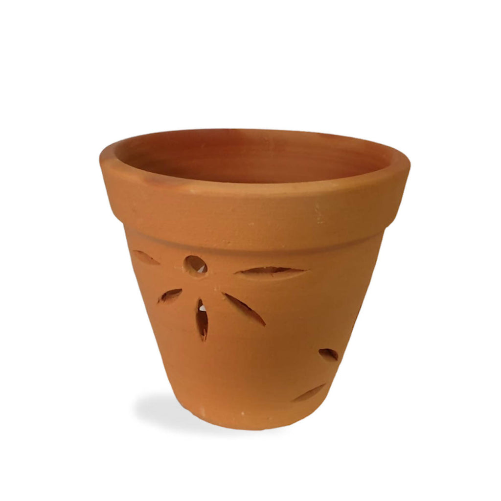 Terracotta Clay Orchid Pot 25cm