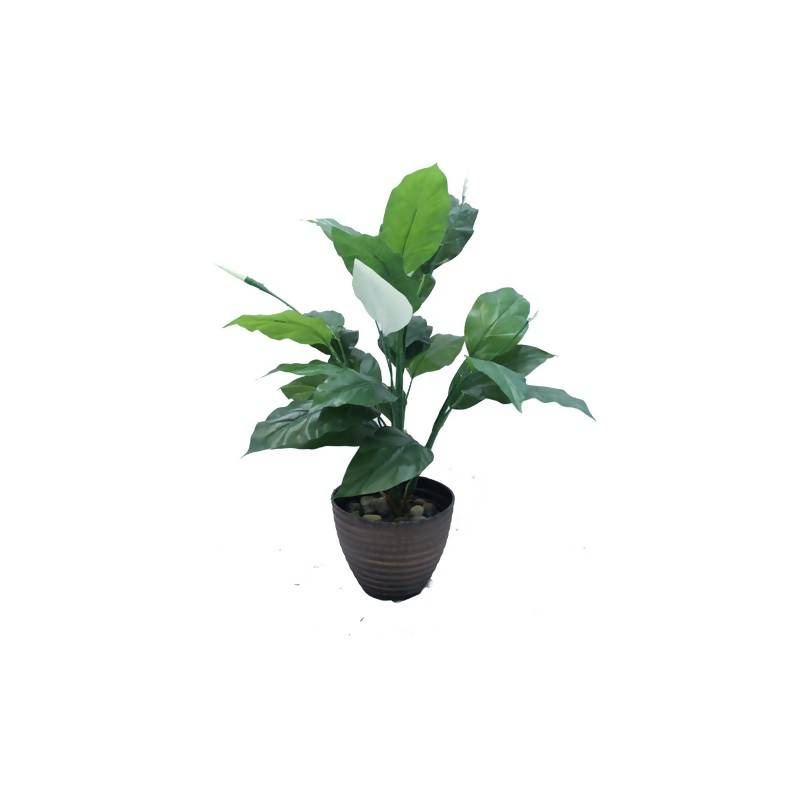 Artificial Potted Spathiphyllum (Real Touch) (0.8m)