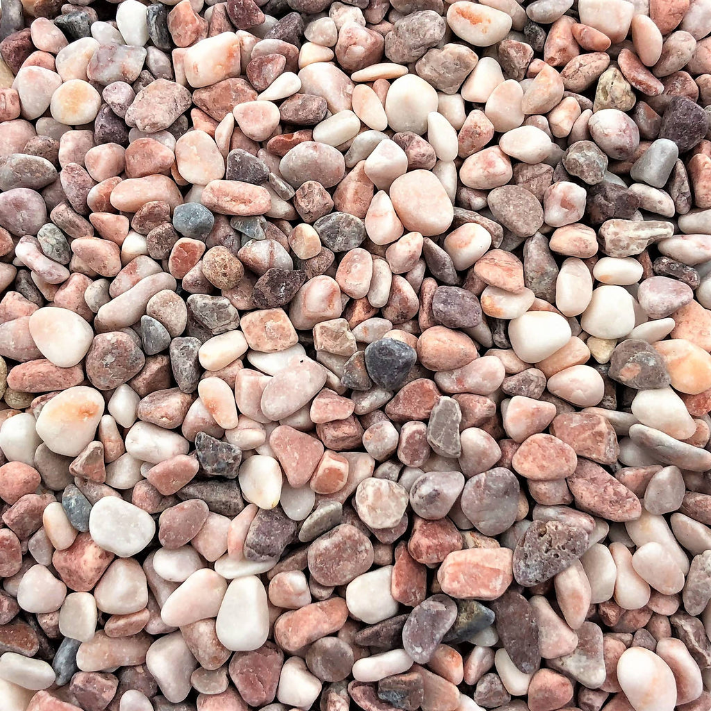 Decorative Stone Chips, Natural Pink (0.5L)
