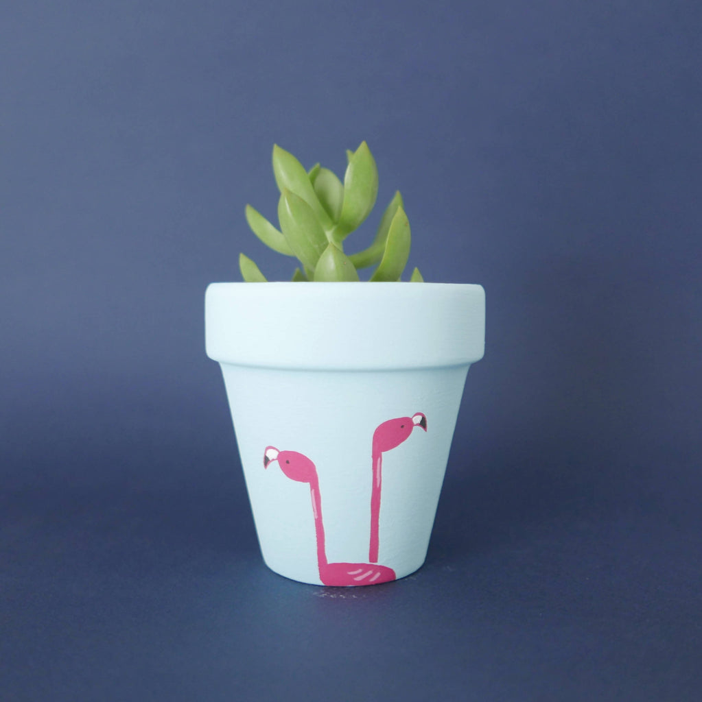 Flaming Flamingos Pot