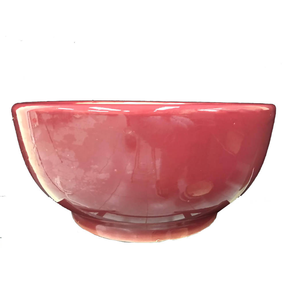 Pot Glazed Bowl Maroon