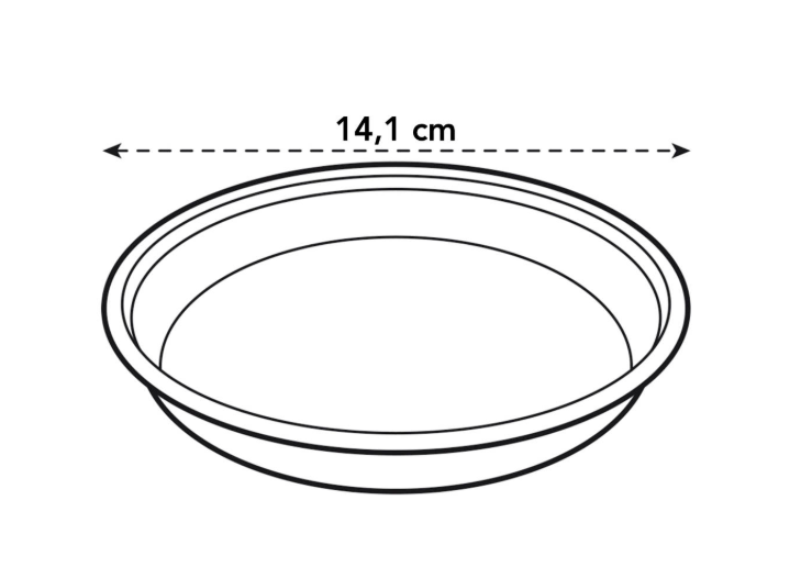 Uni-saucer Round 14cm in transparent