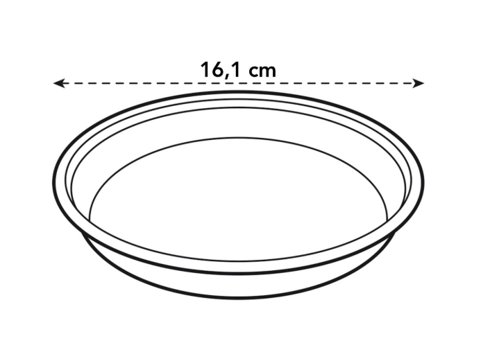 Uni-saucer Round 16cm in transparent